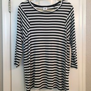 CAbi Oversized Striped Top (S)